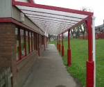 school canopy post protectors