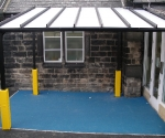 Yellow Post Pads for Heritage School Canopy