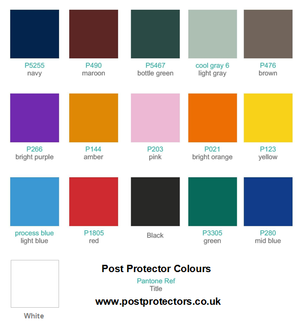 Post Protector Colours_www-postprotectors-co-uk